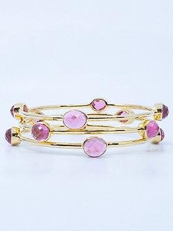 Pink Topaz Bangle Bracelet
