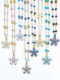 Small Pavé Daisy Charm Necklace