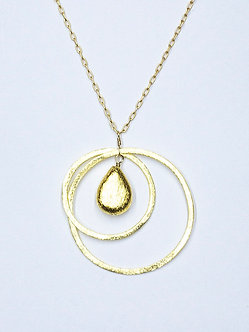 Two Hoop Circle Necklace