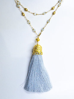 Extra Large Silk Tassel Necklace