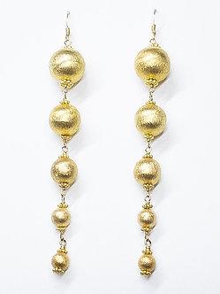 Gold Vermeil Five Drop Stack Earrings