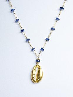 Cowrie Drop Charm Necklace