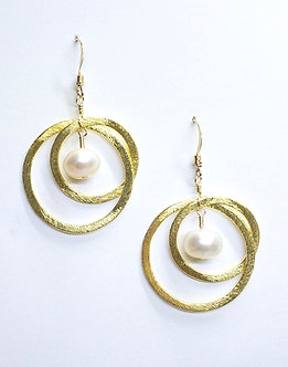 Medium Two Hoop Round Earrings