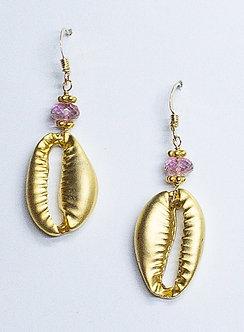 Large Cowrie Shell Drop Earrings