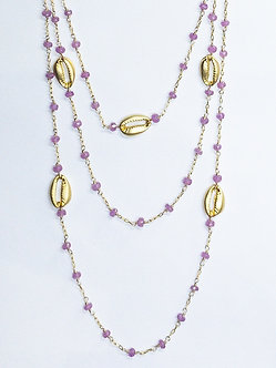 Cowrie Charm Long Lariat