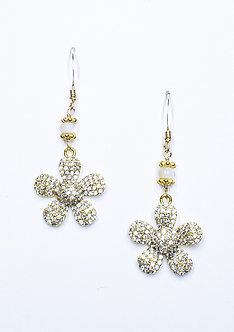 Small Pavé Daisy Earrings