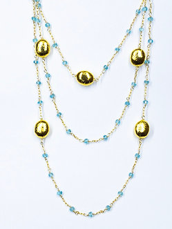 "50"" Gold Vermeil Bead Long Lariat"
