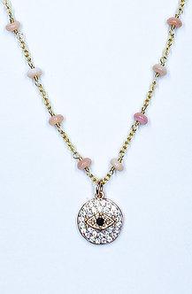 Evil Eye Coin Charm Necklace