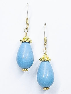 Turquoise Howlite Small Drop Earrings