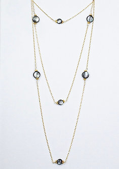 Mother of Pearl Coin Long Lariat