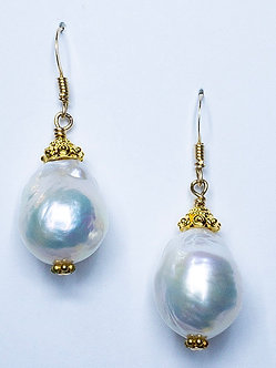 Tahitian Pearl Short Drop Earrings