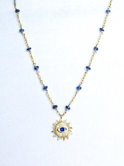Evil Eye Sun Charm Necklace