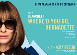 WIN* one of three double movie passes and copy of the book for Where'd You Go Bernadette