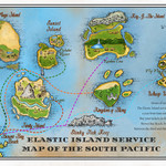 Elastic Island Service South Pacific Map