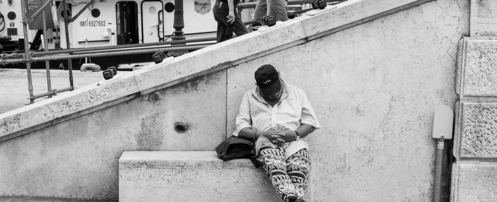 Man Taking a Nap, Venice, 2017