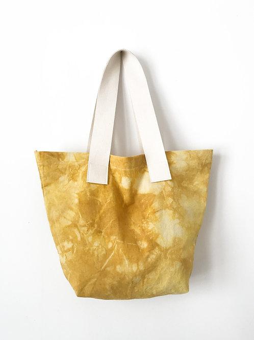 Bawełniana torba farbowana kurkumą / L