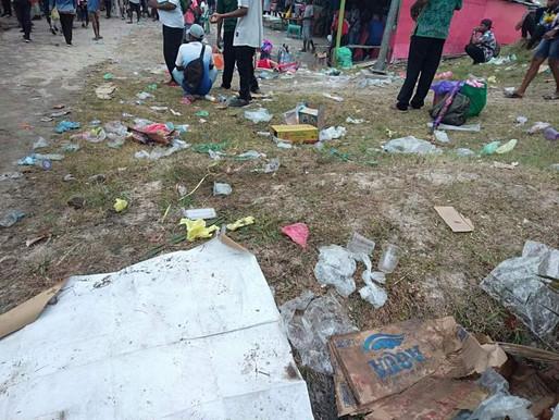Ribuan Sampah berhamburan di Pulau Mansinam
