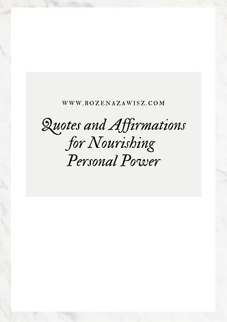 Quotes and Affirmations for Nourishing P