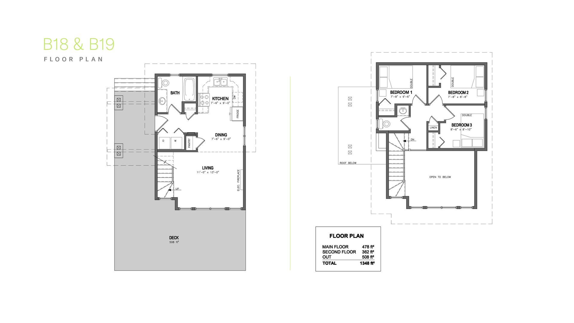 Kapasiwin Bungalows Floor Plan B18 & B19