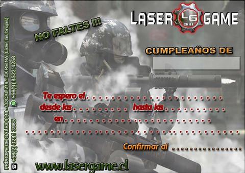 Tarjeta de cumpleaños Laser Game
