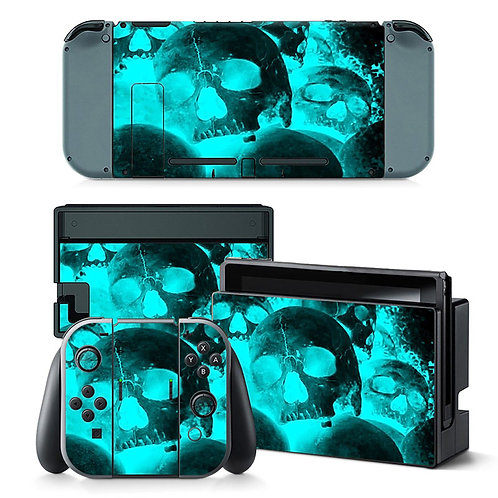 Nintendo Switch Skin ''Fire Skulls''