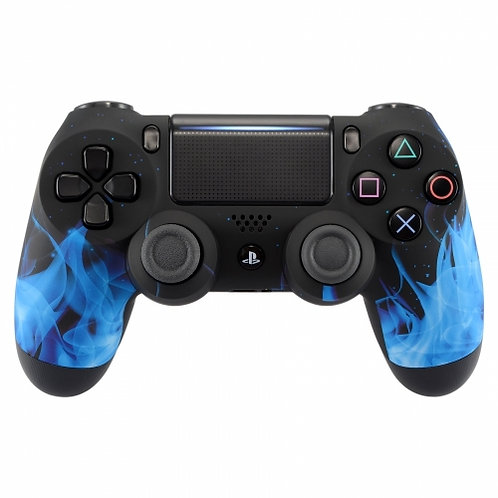 Ps4 Controller ''Blue Flames''