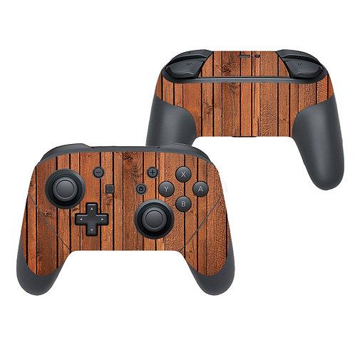 Nintendo Switch Pro Controller Skin ''Wood''