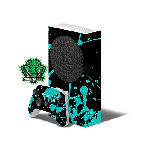 Xbox Series S Skin ''Blue Splash''