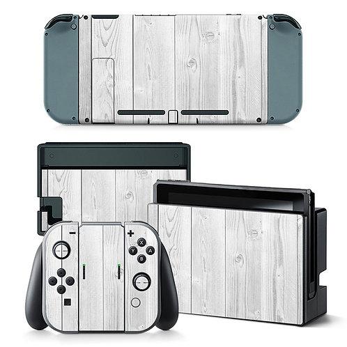 Nintendo Switch Skin ''White Wood''