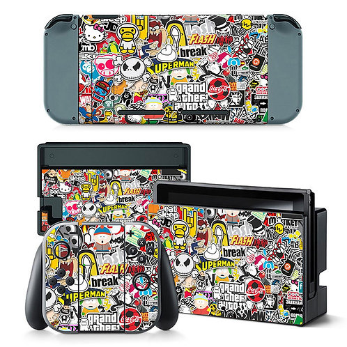 Nintendo Switch Skin ''Stickers''
