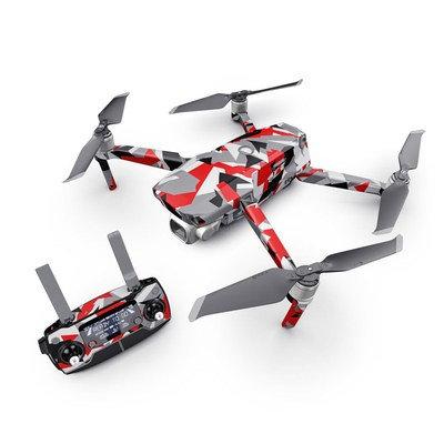 Dji Drone Skin Set ''Red Camo''