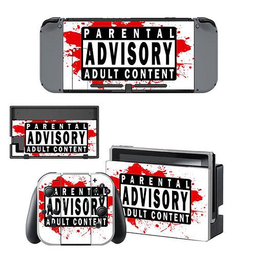 Nintendo Switch Skin ''Parental Advisory''