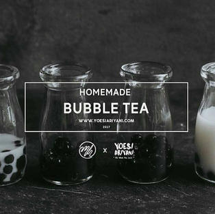 homemade bubble tea by @yoear