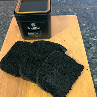 charcoal bread by @idaluther