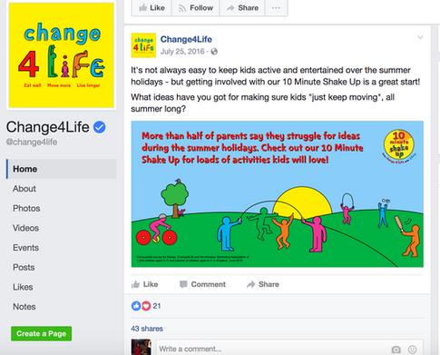 NHS Change 4 Life Post