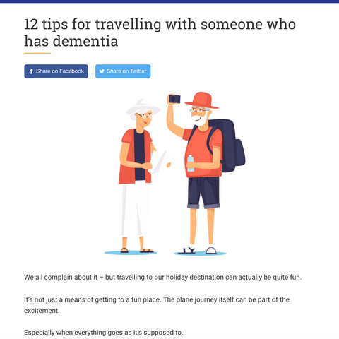 """""""12 tips for travelling with someone who has dementia"""""""