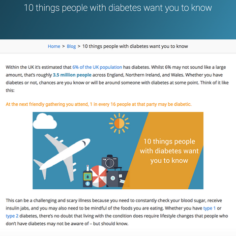 """""""10 things people with diabetes want you to know"""""""