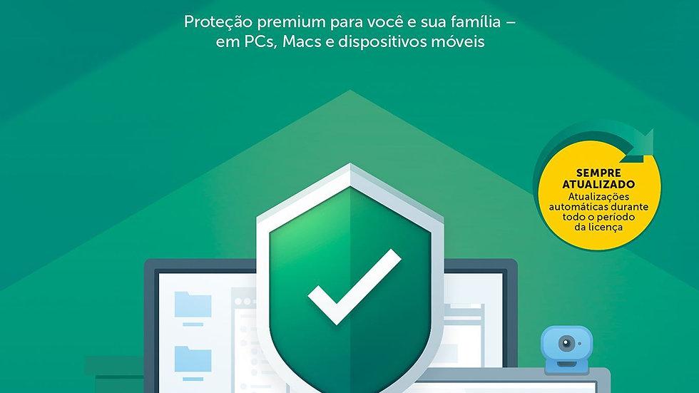 Kaspersky Total Security - 3 Dispositivo para 1 Ano + Safe kids + Password Manag