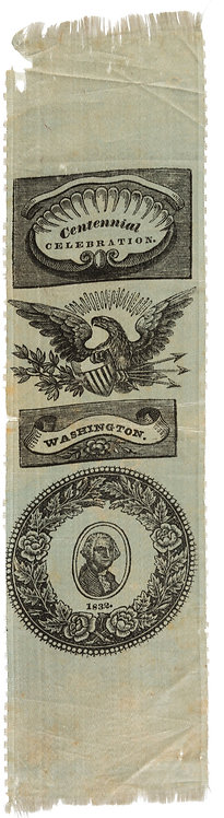 1832 George Washington Centennial Silk Ribbon