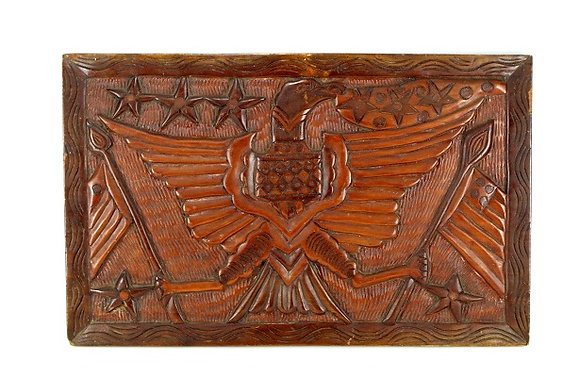 Charming Patriotic Folk Art AmericanEagle WoodPlaque