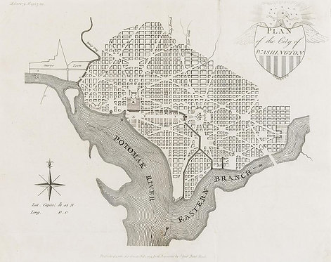 Plan of the City of Washington Map