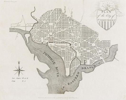 Plan of the City of Washington Map