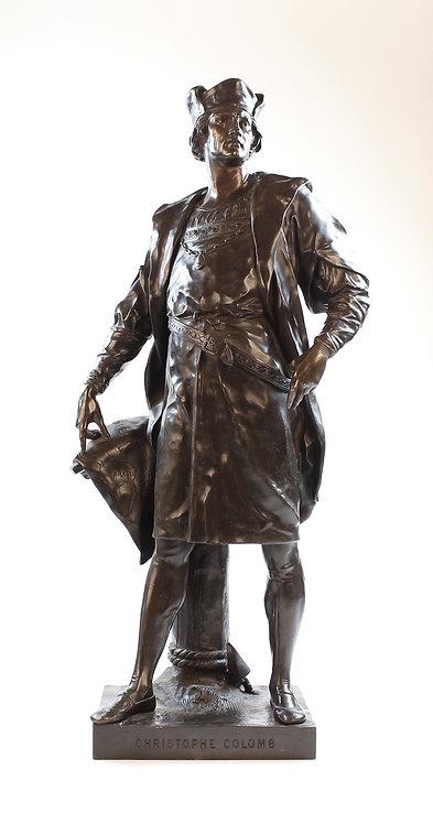 Important Christopher Columbus Bronze