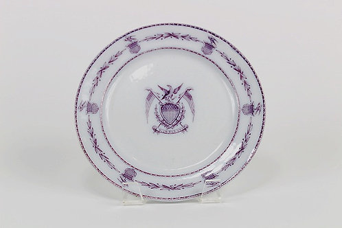 1840s French Pearlware Patriotic American Eagle Plate