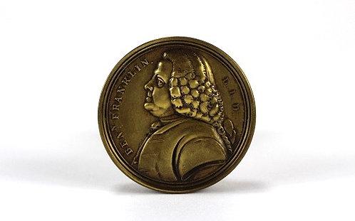 Early Benjamin Franklin Brass Pull