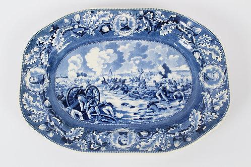 "Historical Blue Transferware ""Pickett's Charge"" Platter"