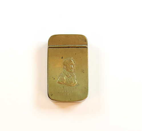 War of 1812 Commodore Oliver Hazard Perry Brass Snuff Box