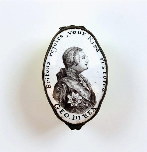 Rare King George III Battersea Enamel Box