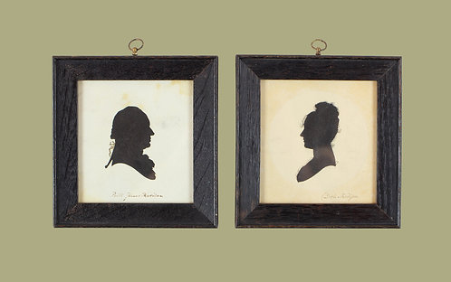 James & Dolley Madison Silhouettes