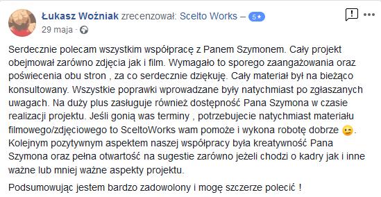 Testimonial Scelto Works Villa Żywiec